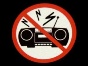 no music not allowed