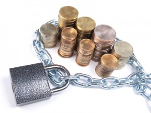 Coins and lock