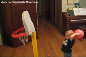 2 year old's trick-shot video goes viral
