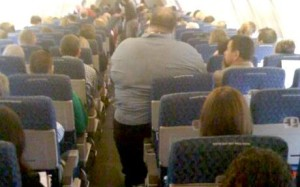 fat guy on airline