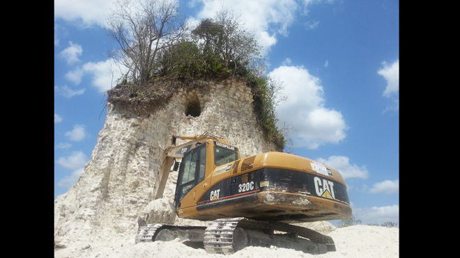belize temple destroyed