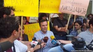 protest novinari