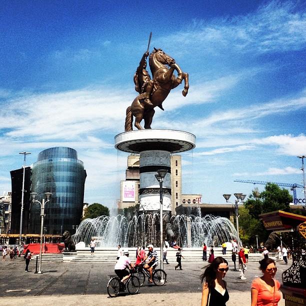 Skopje plostad