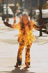 spontaneous human combustion.