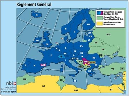 zelena karta mapa