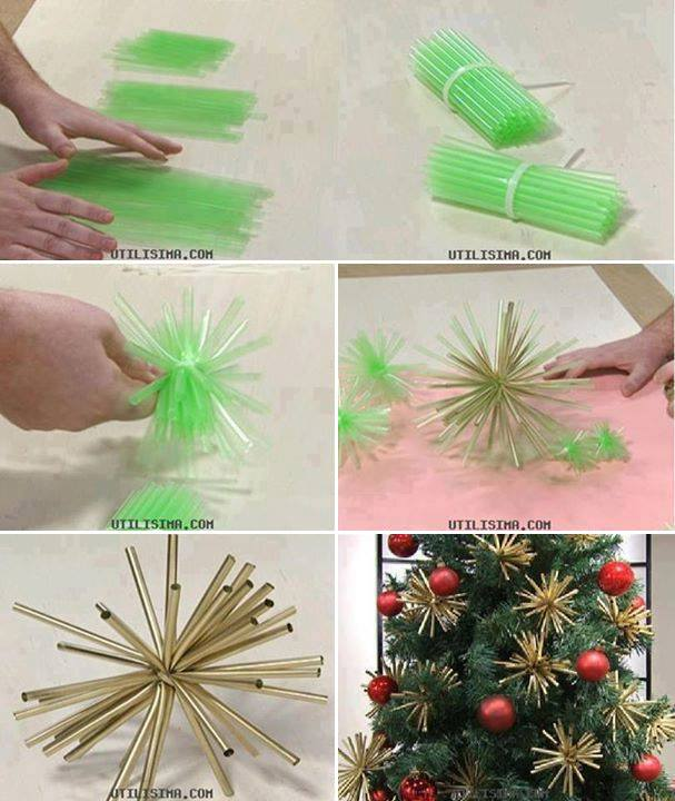 DIY-Plastic-Straw-Ornaments