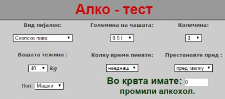 alko test