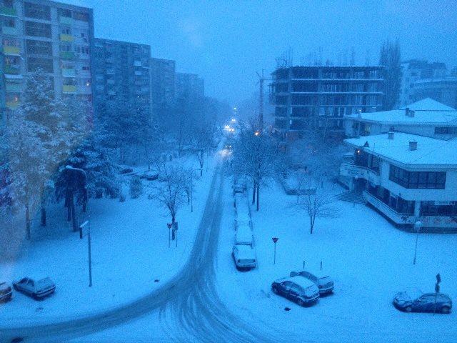mk skopje sneg