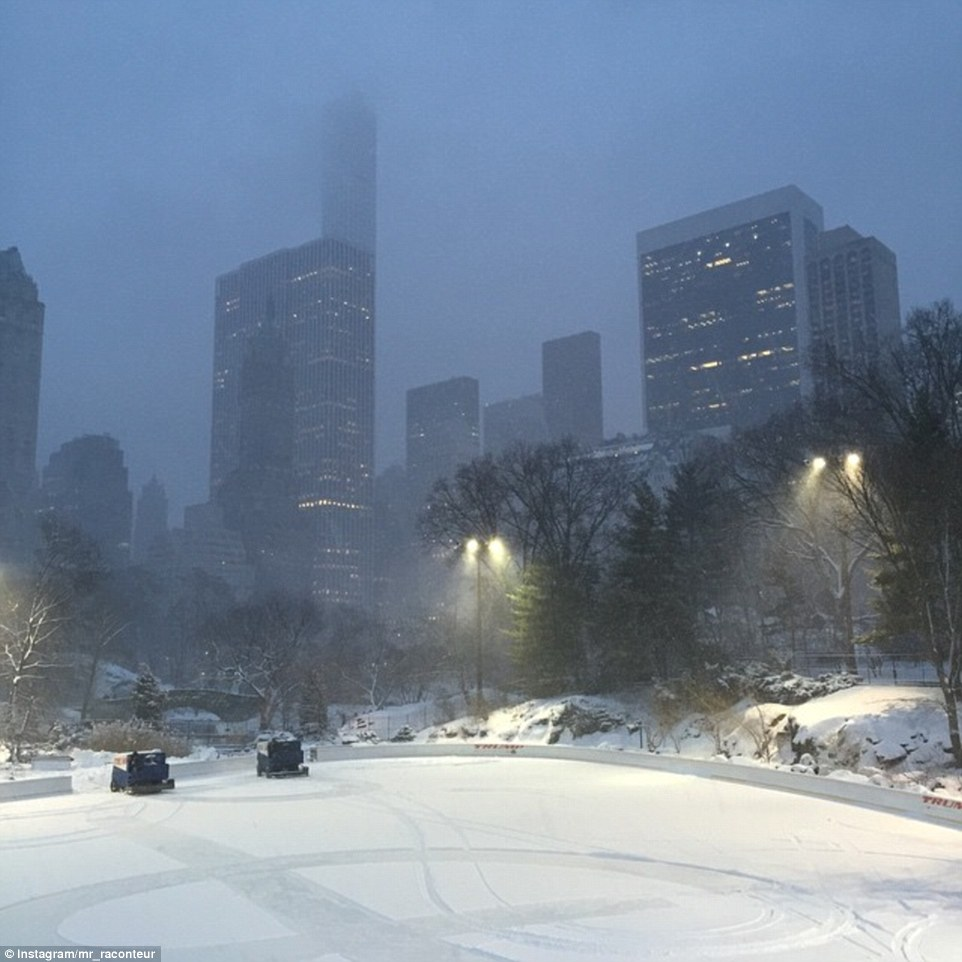 njujork bura sneg