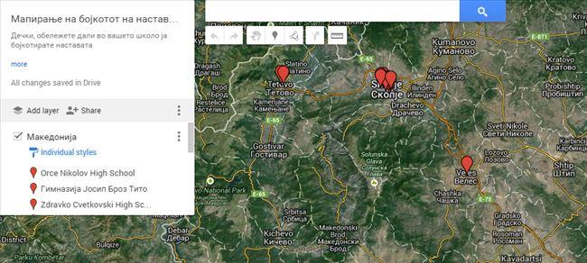 mapiranje bojkot