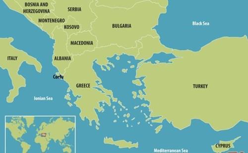mapa grcija albanija