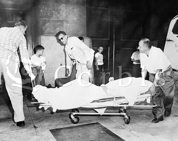 Marilyn Monroe Being Rushed to the Hospital