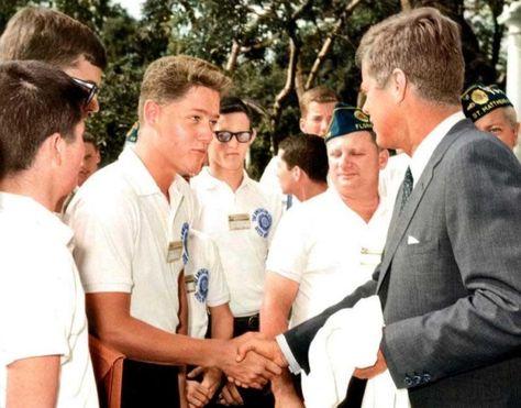 young Bill Clinton meets John F. Kennedy