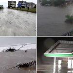 Флоренс прави хаос по Америка, поплавени улици, брановите стигнаа до куќите, летаат покриви и дрвја