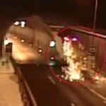 Снимена неверојатна сообраќајка – возилото летна во воздух (Видео)