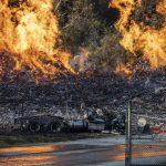 Гром изгоре 45.000 буриња со виски на познатиот Џим Бим