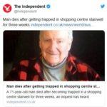 Маж залутал во трговски центар, не можел да го најде излезот, по три недели најден мртов